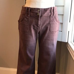 Anthropologie brown flares 28